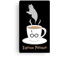 Espresso Patronum - Cat Canvas Print