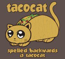 Funny - Tacocat Spelled Backwards (vintage look) Kids Clothes