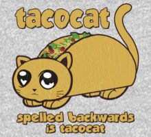Funny - Tacocat Spelled Backwards (vintage look) One Piece - Long Sleeve