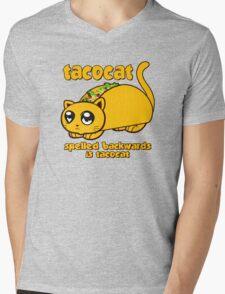 Funny - Tacocat Spelled Backwards (vintage look) Mens V-Neck T-Shirt