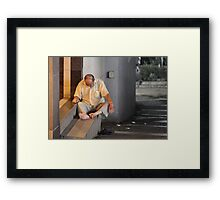 Feasted out Framed Print