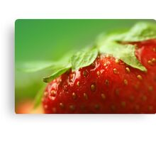 Sweet Summer Strawberry Canvas Print