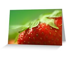 Sweet Summer Strawberry Greeting Card