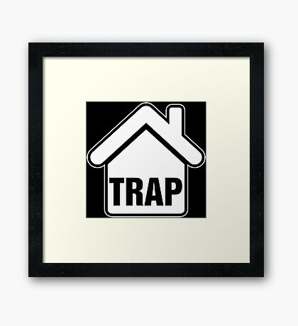 Trap House White Framed Print