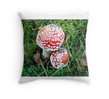 coloured schrooms 1 Throw Pillow