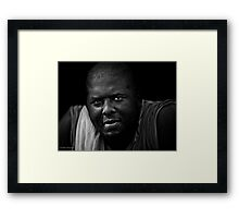 Another day, another heavyweight boxer who's early morning workout begins with lifting some light weights: his twin daughters Framed Print