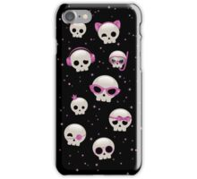 Cute Skulls with Pink Accessories iPhone Case/Skin