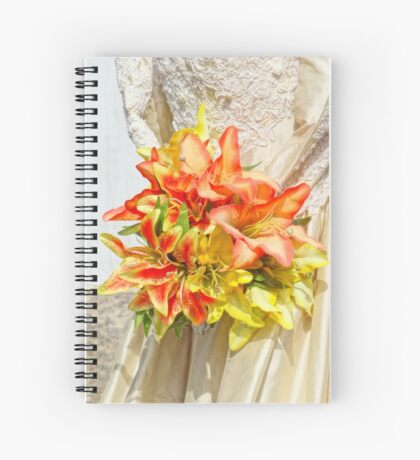 The bride had a lily bouquet Spiral Notebook