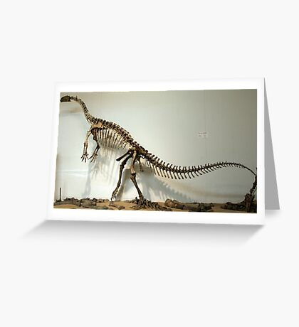 Strong Plateosaurus Greeting Card