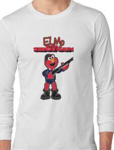 Elmo with a Shotgun Long Sleeve T-Shirt