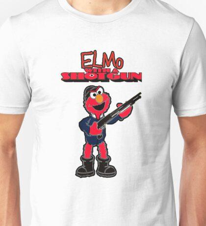 Elmo with a Shotgun T-Shirt