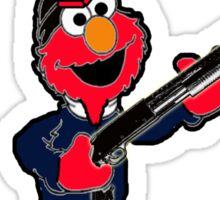 Elmo with a Shotgun Sticker