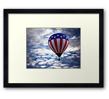Stars, Stripes, Sky Framed Print