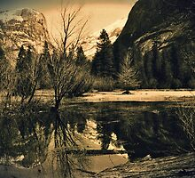 Mirror Lake 3 - Yosemite National Park - Vintage by Matthew Floyd