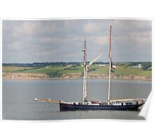 Wylde Swan, Tall Ship, Waterford Harbour, Ireland Poster