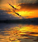 The Two Lancasters at Sunset 2 by Colin  Williams Photography