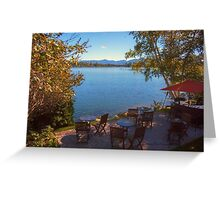 Patio on the Water Front - Mirror Lake Greeting Card