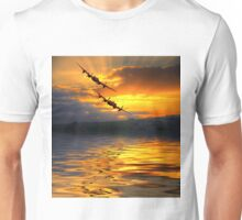 The Two Lancasters at Sunset 2 Unisex T-Shirt