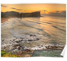Awaiting The Dawn - Avalon Beach, Sydney Australia - The HDR Experience Poster