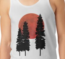 Blood Moon with Evergreens Tank Top