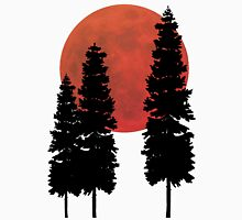 Blood Moon with Evergreens T-Shirt