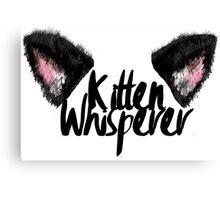 Kitten Whisperer Canvas Print