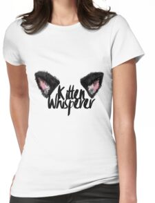 Kitten Whisperer Womens Fitted T-Shirt