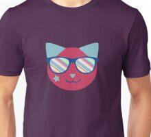 Pink Retro Space Cat Unisex T-Shirt