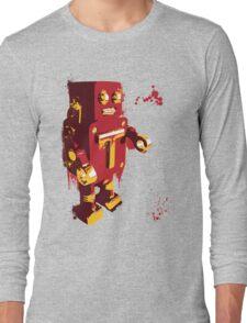 Red Tin Robot Splattery Shirt or iPhone Case Long Sleeve T-Shirt