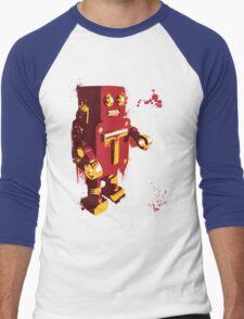 Red Tin Robot Splattery Shirt or iPhone Case Men's Baseball ¾ T-Shirt