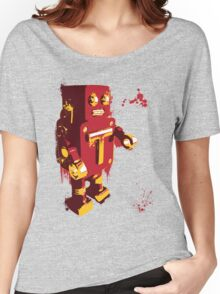 Red Tin Robot Splattery Shirt or iPhone Case Women's Relaxed Fit T-Shirt