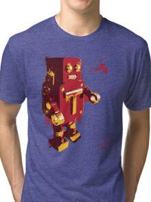Red Tin Robot Splattery Shirt or iPhone Case Tri-blend T-Shirt
