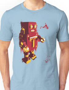Red Tin Robot Splattery Shirt or iPhone Case Unisex T-Shirt