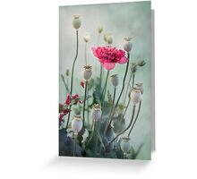 Pods, Buds and Flowers Greeting Card