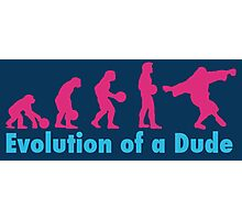 Evolution of a dude pink Photographic Print
