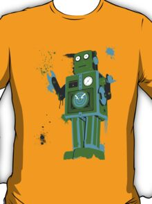 Green Tin Robot Splattery Shirt or iPhone Case T-Shirt