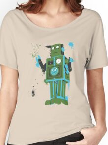 Green Tin Robot Splattery Shirt or iPhone Case Women's Relaxed Fit T-Shirt