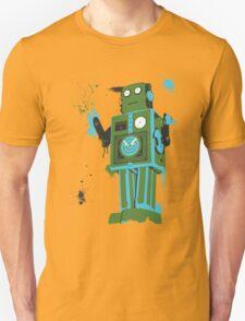 Green Tin Robot Splattery Shirt or iPhone Case T-Shirt
