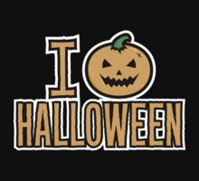 I Love Halloween Spooky Pumpkin  by HolidayShirts