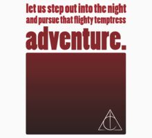 Flighty Temptress Adventure - Dumbledore and Potter setting off. by wittytees