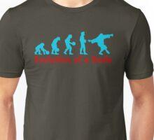 Evolution of a dude blue Unisex T-Shirt