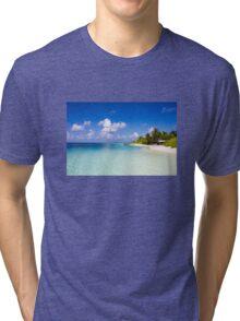 Maldives, Kuramathi island Tri-blend T-Shirt