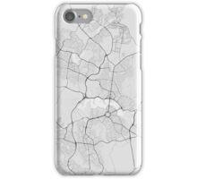 Canberra-Queanbeyan, Australia Map. (Black on white) iPhone Case/Skin