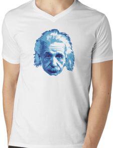 Albert Einstein - Theoretical Physicist - Blue Mens V-Neck T-Shirt
