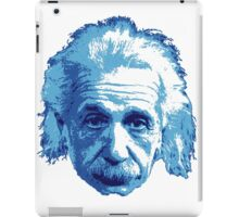 Albert Einstein - Theoretical Physicist - Blue iPad Case/Skin