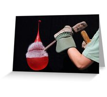 Balloon v Chisel II Greeting Card