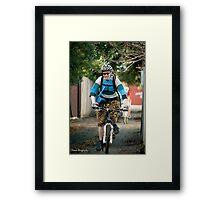 Melburn-Roubaix rider - Corebike Framed Print