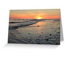 tide and sun Greeting Card