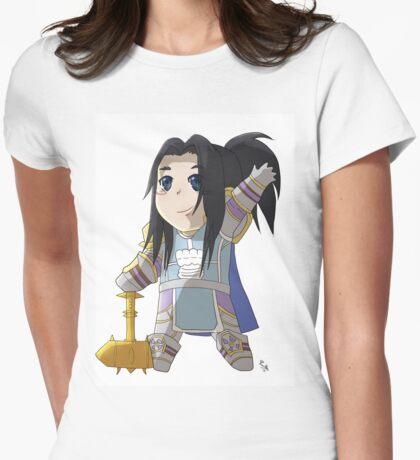 Chibi Paladin Womens Fitted T-Shirt
