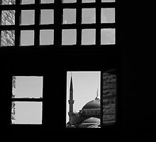 The Blue Mosque through a Window by Mariano57
